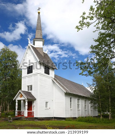 Ankarede Chapel - Lappland, Sweden - stock photo