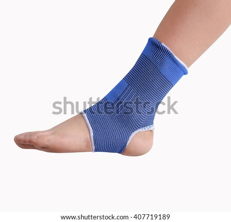 Ankle brace on white background