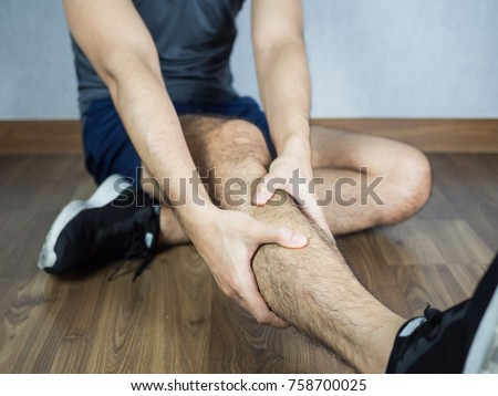 Ankle pain from workout, sit on the floor