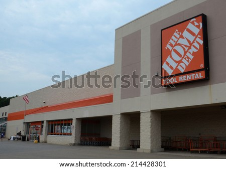 ANN ARBOR, MI - AUGUST 30: Home improvement retailer Home Depot, whose Ann Arbor store is shown on August 30, 2014, is the fourth largest retailer in the United States.  - stock photo