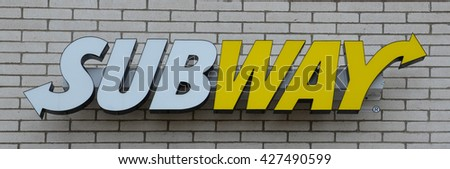 ANN ARBOR, MI - JANUARY 30:  Subway, whose south Ann Arbor, MI store is shown on January 30, 2016, has over 43,000 restaurants in 108 countries.