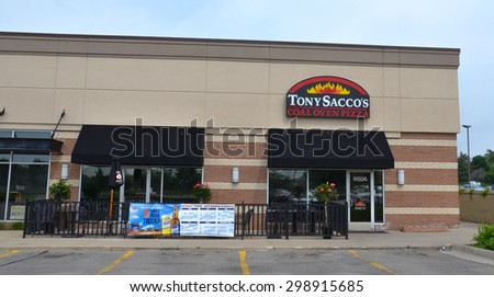 ANN ARBOR, MI - JUNE 7:  Tony Sacco's, whose south Ann Arbor location is shown on June 7, 2015, has over a dozen locations around the country.  - stock photo