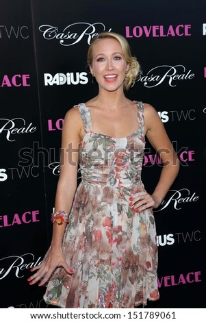 """Anna Camp at the """"Lovelace"""" Los Angeles Premiere, Egyptian Theater, Hollywood, CA 08-05-13 - stock photo"""
