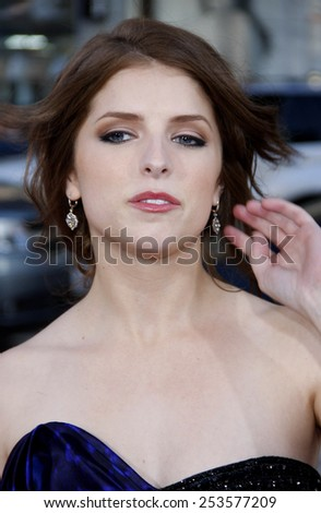 """Anna Kendrick at the Los Angeles Premiere of """"Scott Pilgrim vs. The World"""" held at the Grauman's Chinese Theater in Los Angeles, California, United States on July 27, 2010.  - stock photo"""