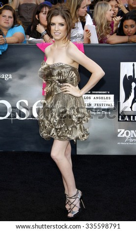 "Anna Kendrick at the ""The Twilight Saga: Eclipse"" Los Angeles Premiere held at the Nokia Live Theater in Los Angeles, California, United States on June 24, 2010."