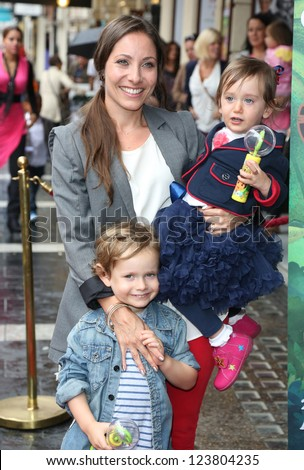 Anna Marie-Wayne and children arriving for the Celebrity & Press Performance of Nickelodeon's Dora the Explorer at the Apollo Theatre, London. 29/08/2012 Picture by: Henry Harris