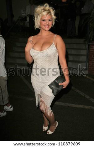 Anna Nicole Smith Lookalike at the premiere of ANNA NICOLE. Fox Studios, Los Angeles, CA. 08-30-07 - stock photo