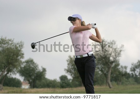 Anna Rawson, from Australia,  Ladies Golf European Tour, Castellon, Spain, 2006