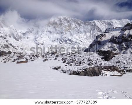 Annapurna Base Camp, Himalayas, Nepal - stock photo