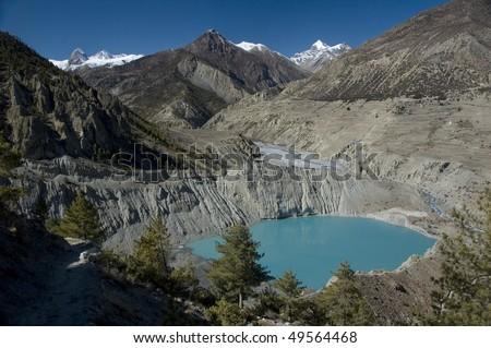 Annapurna Conservation Area. Nepal - stock photo