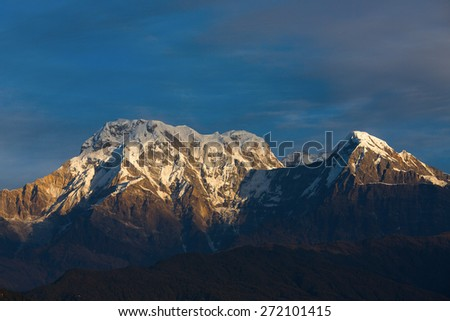 Annapurna I Himalaya Mountains - stock photo