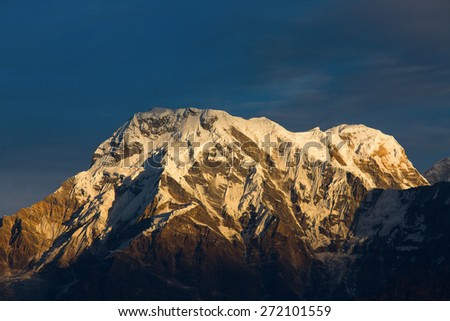 Annapurna I Himalaya Mountains - stock photo