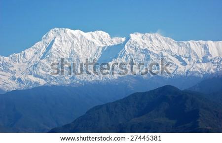 Annapurna - majestic mountain in Himalaya, Nepal. - stock photo