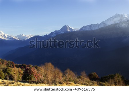 Annapurna range, view from Poon hill