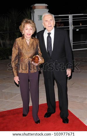 Anne Douglas and Kirk Douglas at the 4th Annual Kirk Douglas Awards for Excellence in Film Awards. Biltmore Four Seasons, Santa Barbara, CA. 10-22-09