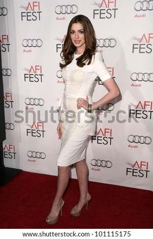"""Anne Hathaway at the """"Love & Other Drugs"""" World Premiere at AFI Fest 2010, Chinese Theater, Hollywood, CA. 11-04-10 - stock photo"""