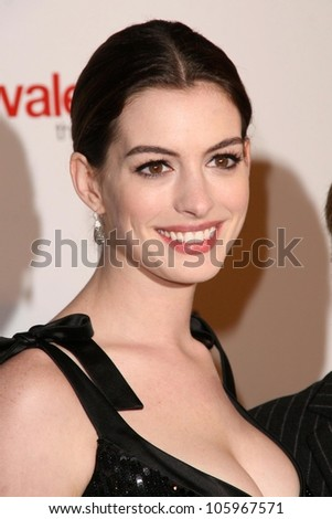Anne Hathaway at the West Coast Premiere of 'Valentino - The Last Emperor'. LACMA, Los Angeles, CA. 04-01-09 - stock photo