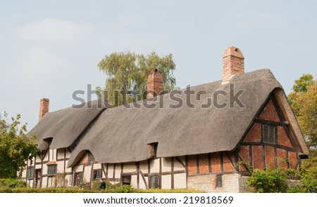 Anne Hathaway's cottage in Shottery in Stratford upon Avon, Warwickshire, England, UK - stock photo