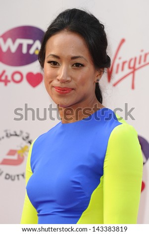 Anne Keothavong arriving for the WTA Pre-Wimbledon Party 2013 at the Kensington Roof Gardens, London. 20/06/2013 - stock photo