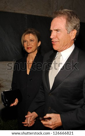 Annette Bening and Warren Beatty at the Billy Wilder Theater Opening Tribute. Hammer Museum, Westwood, California. December 3, 2006.