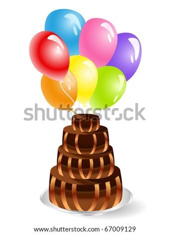 anniversary cake - stock photo