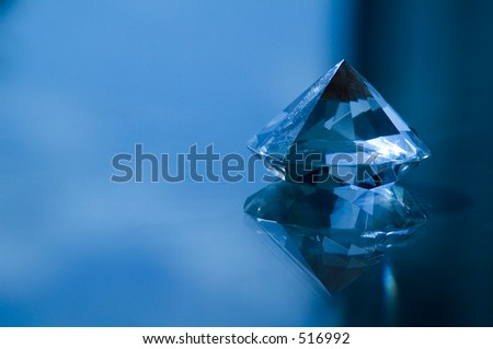 Anniversary crystal on tabletop - stock photo