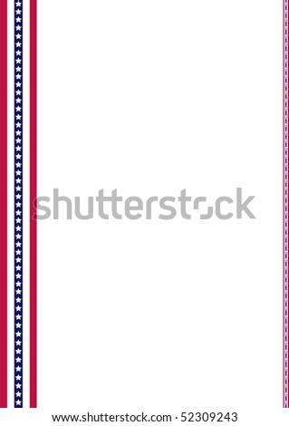 Announcement page decorated with American Flag strips ornaments, In honor of Memorial Day - stock photo