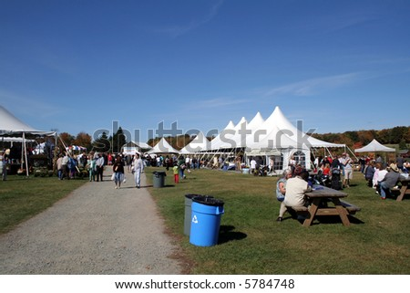 Annual Harvest Festival at Bethel Woods is held at the site of the original 1969 Woodstock Festival in Bethel, New York.  It is host to many local farmers, crafts people and community events. - stock photo
