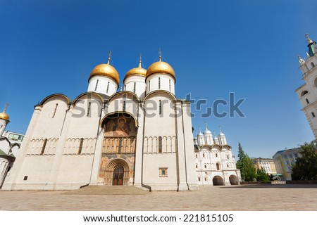 Annunciation Cathedral front view from below - stock photo