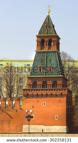 Annunciation tower of Moscow Kremlin. - stock photo