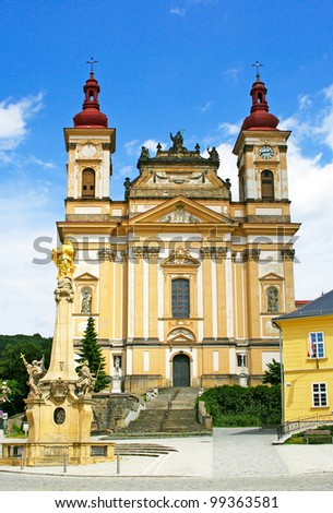 Annuncition of the Lord Church. The Town of Sternberk is situated on the foot hill rising in the transition of Hana Lowland Lower Jeseni­ky Mountains. Czech Republic