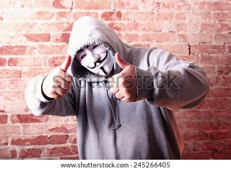 Anonymous man - stock photo