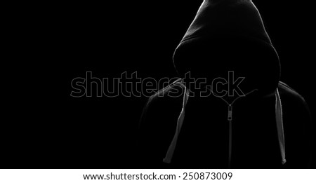 Anonymous sportsman, hacker or criminial - stock photo