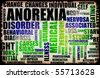 Anorexia Nervosa Eating Disorder as a Concept - stock photo