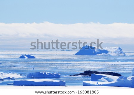 Another Antarctic landscapes. Snow & snow.