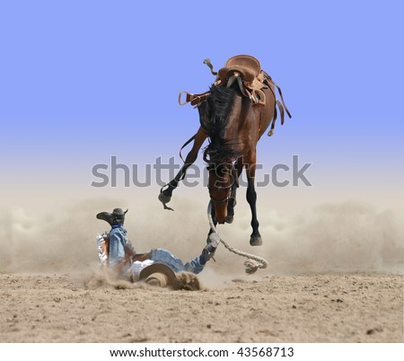 Another Cowboy Bites the Dust isolated with clipping path - stock photo