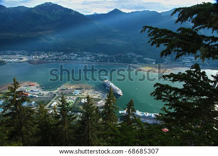 Another cruise ship docks at Juneau, Alaska