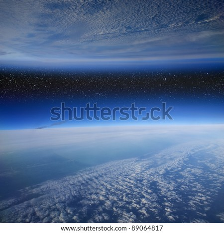 Another Earth. - stock photo