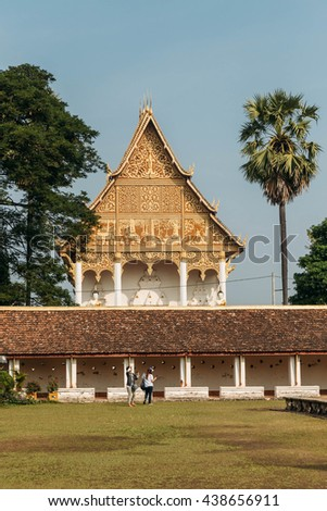Another Temple near Pha That Luang at Vientiane, Laos - stock photo