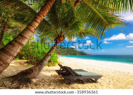 Anse Intendance beach on Mahe Island, Seychelles - stock photo
