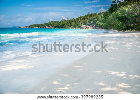 Anse Lazio beach, Praslin island, Seychelles - stock photo