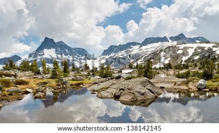 Ansel Adams Wilderness Alpine Lakes Scenery, Sierra Nevada, California, USA - stock photo