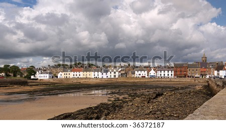 Anstruther (Enster in Scots, Eanstar in Scottish Gaelic and also meaning Little Stream) is a small town in Fife, Scotland. - stock photo
