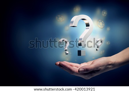 Answer all your questions - stock photo