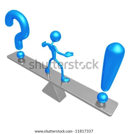 Answer Balance - stock photo