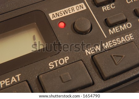 Answer machine - stock photo