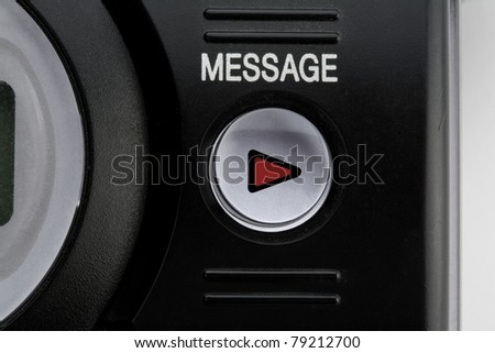 answer phone button - stock photo