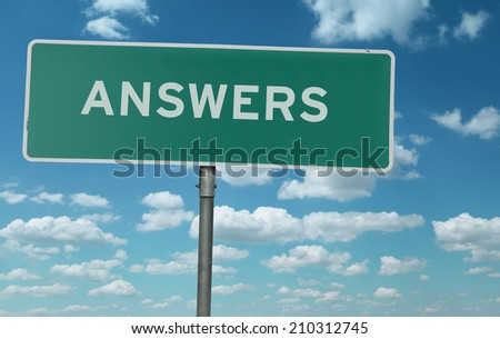 Answers creative sign - stock photo