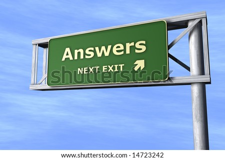 Answers - Next exit - stock photo
