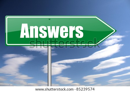 answers traffic sign